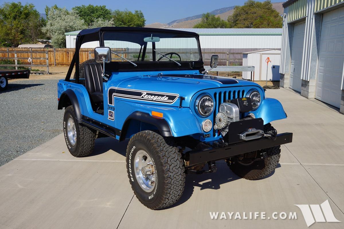 WAYALIFE 1974 Jeep CJ-5 Renegade Jetset Blue Metallic
