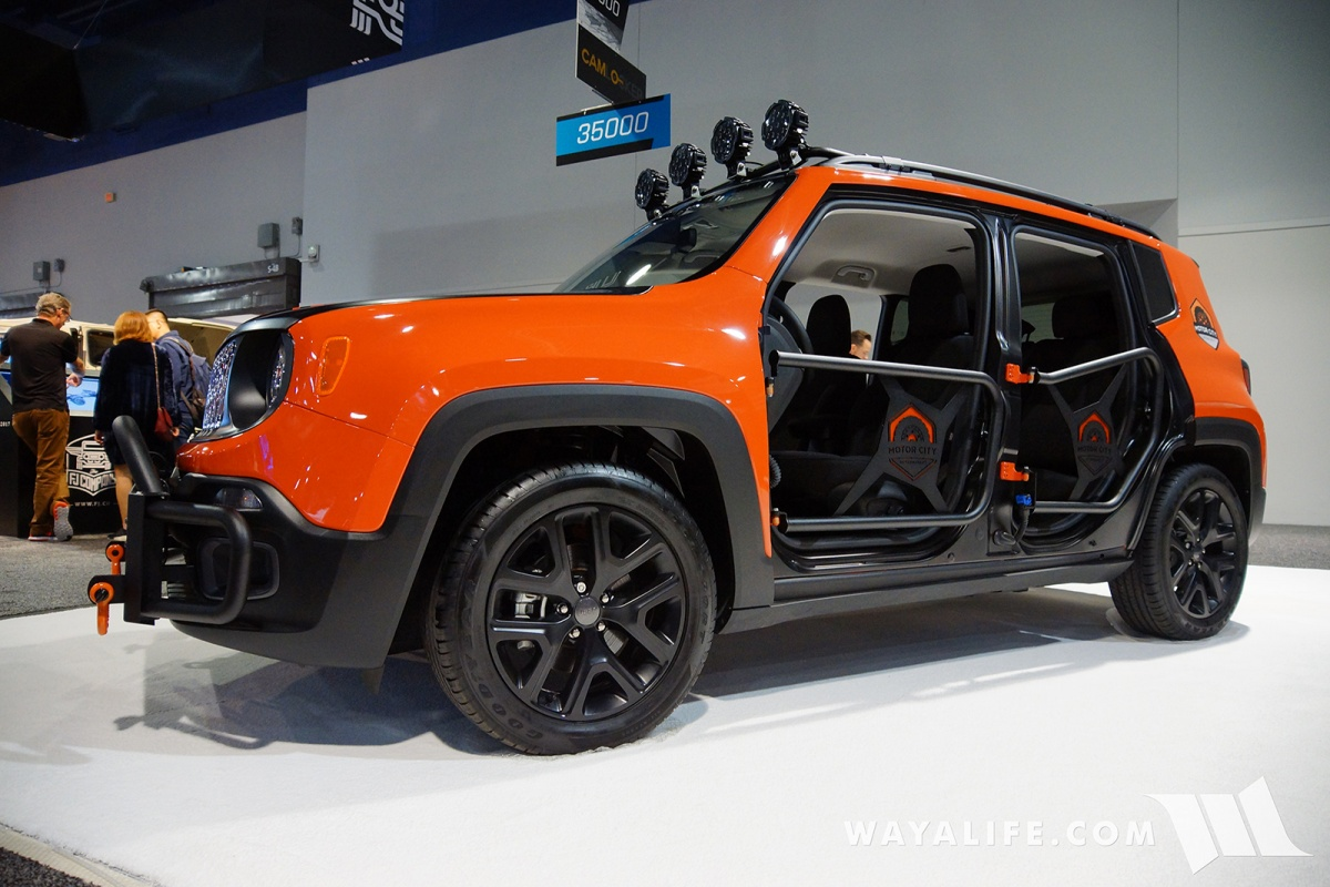 See more pics of this awesome Renegade that was on display at the 2017 SEMA show by clicking on the link below & Please Welcome Motor City Aftermarket to ToasterJeep! | ToasterJeep ...