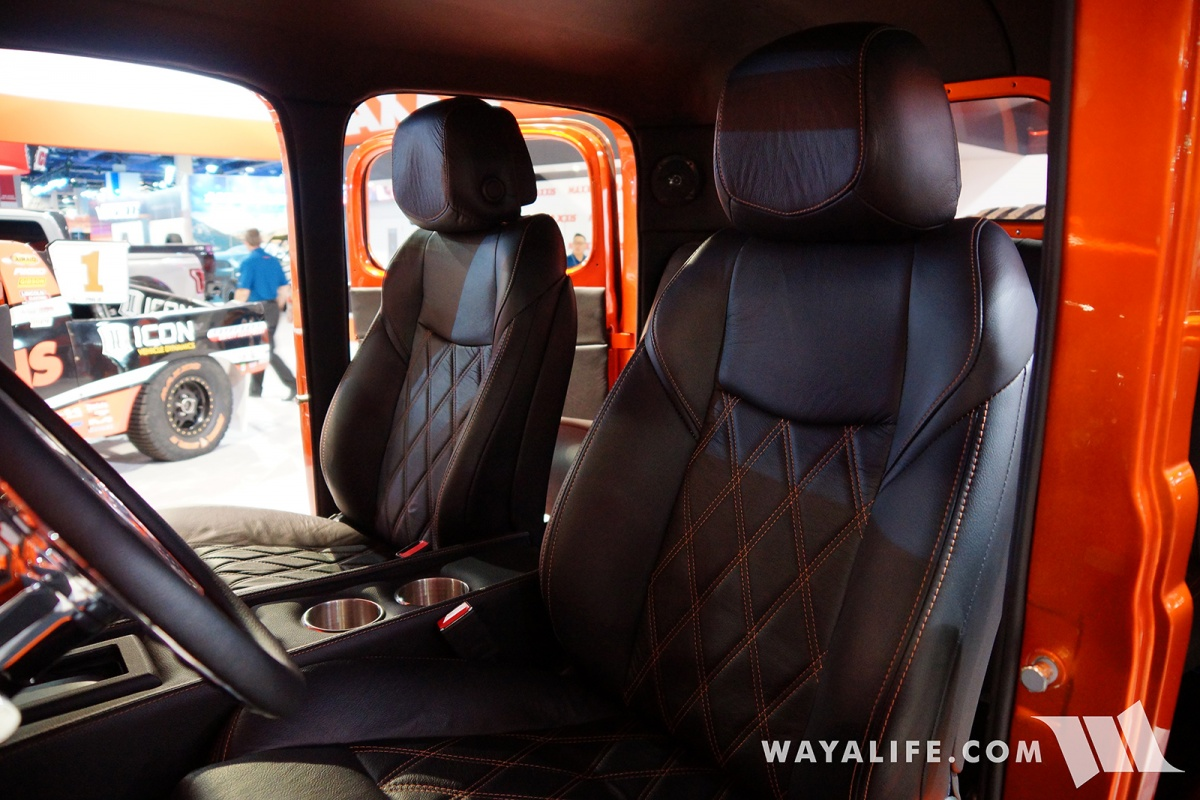 2017 Sema Maxxis Orange Dodge Power Wagon Crew Cab 1949 Killed It With This Killer Metallic Suicide Doors And A 64l Hemi Under The Hood That Puts Out 700 Horsepower