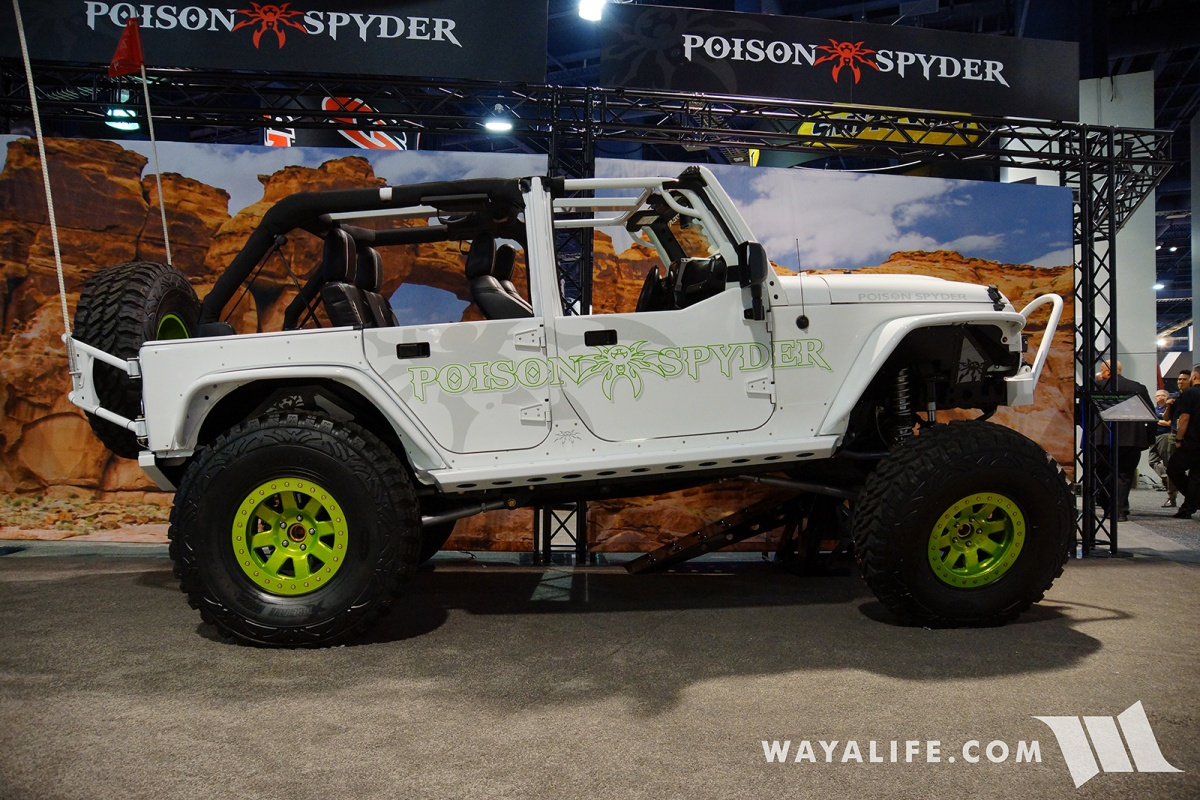 Jeep Wrangler Accessories 2017 >> 2017 SEMA Poison Spyder Jeep JK Wrangler Unlimited