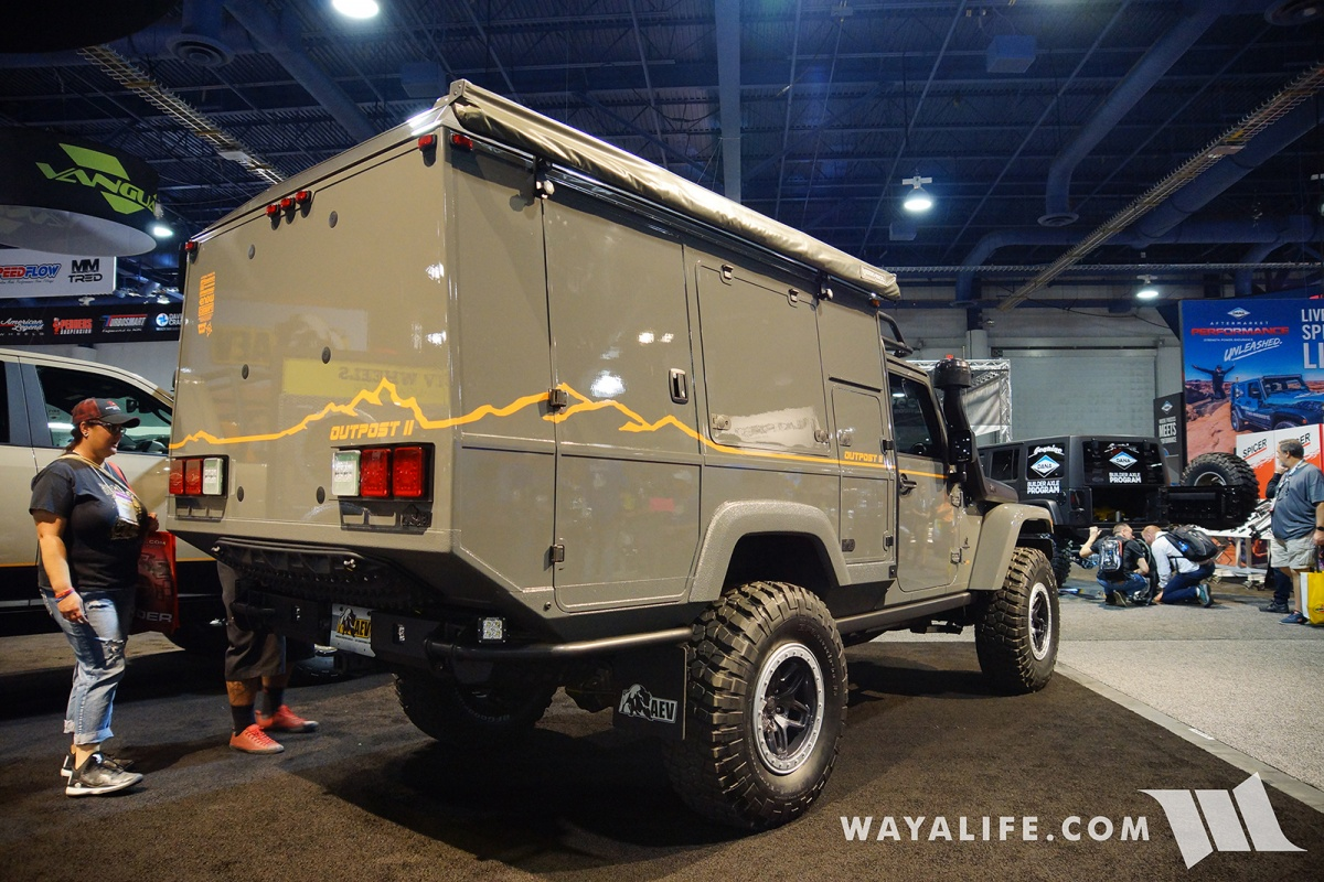 2017 Jeep Wrangler Unlimited Accessories >> 2017 SEMA AEV Outpost II Jeep JK Wrangler Camper
