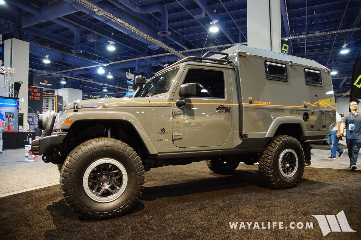 Jeep Rubicon Accessories >> 2017 SEMA AEV Outpost II Jeep JK Wrangler Camper