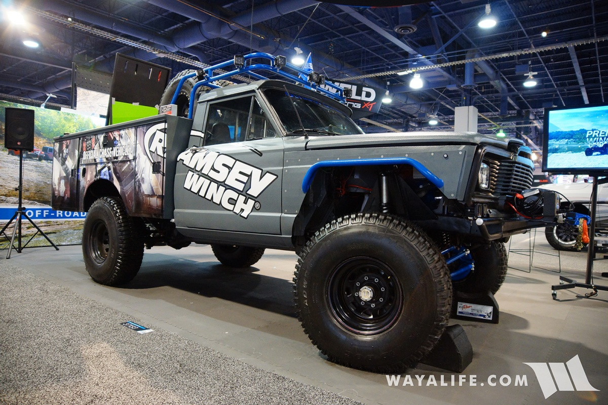 2017 Sema Ramsey Winch Olympus Off Road Jeep J 10 Chase Truck Rear Wrangler 2008 V8 Under The Hood And Leaf Spring In This Is Literally Kind Of Build That Will Get Used Abused Thats What I Like Most About It