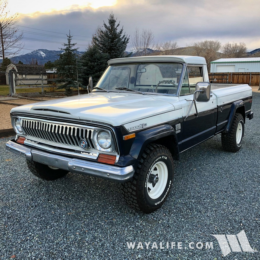 RUSTY : WAYALIFE 1972 Jeep J2000 Pickup Truck