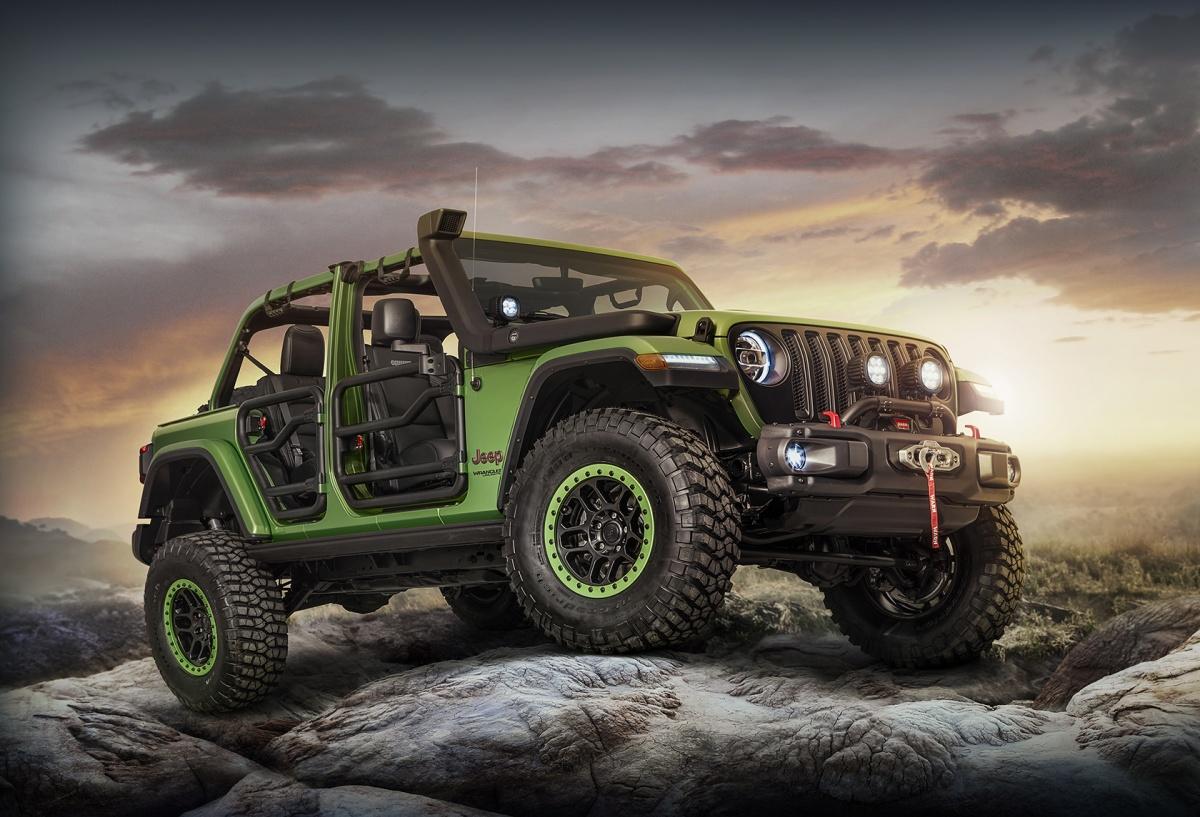 MOPAR modified Jeep JL Wrangler - Mojito Green