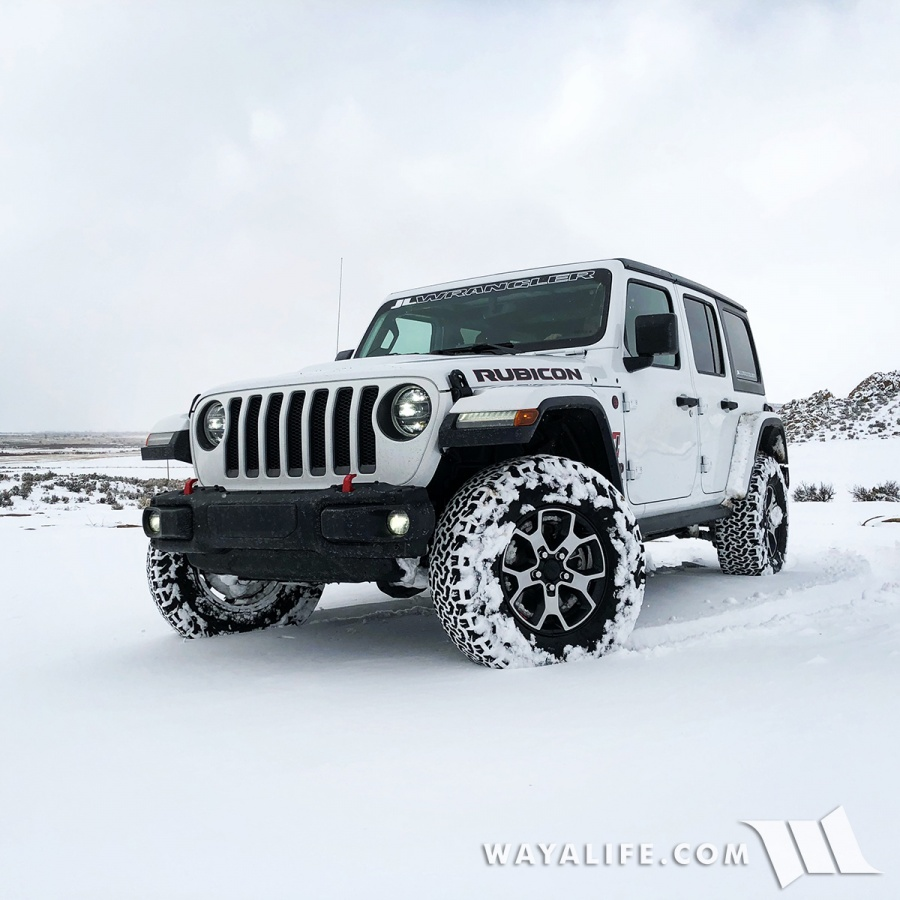JL Wrangler Rubicon Unlimited in the Snow