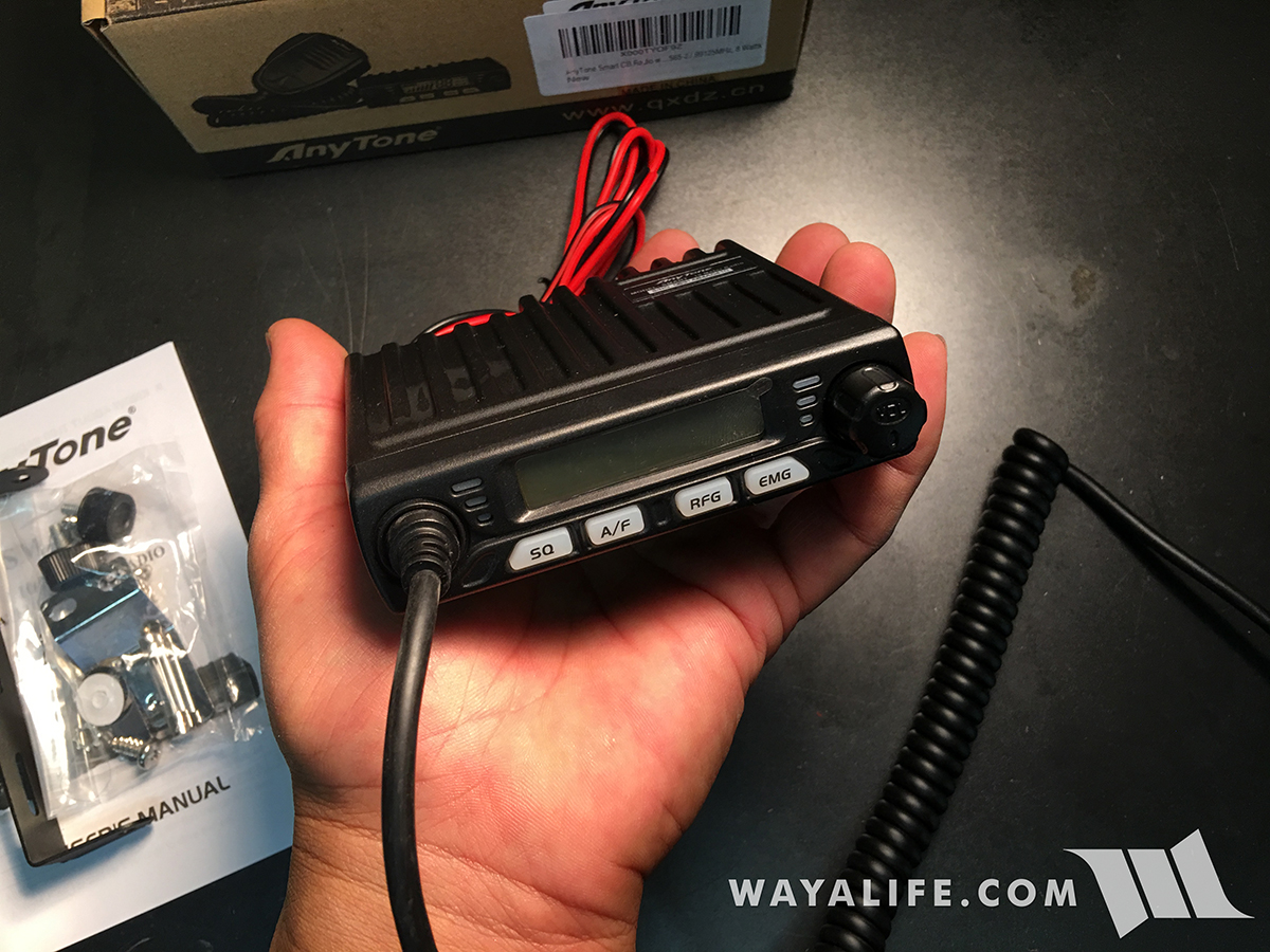 Super Small Anytone Smart Cb Radio 11 Meter Conversion Write Up Wiring Diagram In Addition Mic Diagrams Additional Controls Are Located On Top Of The