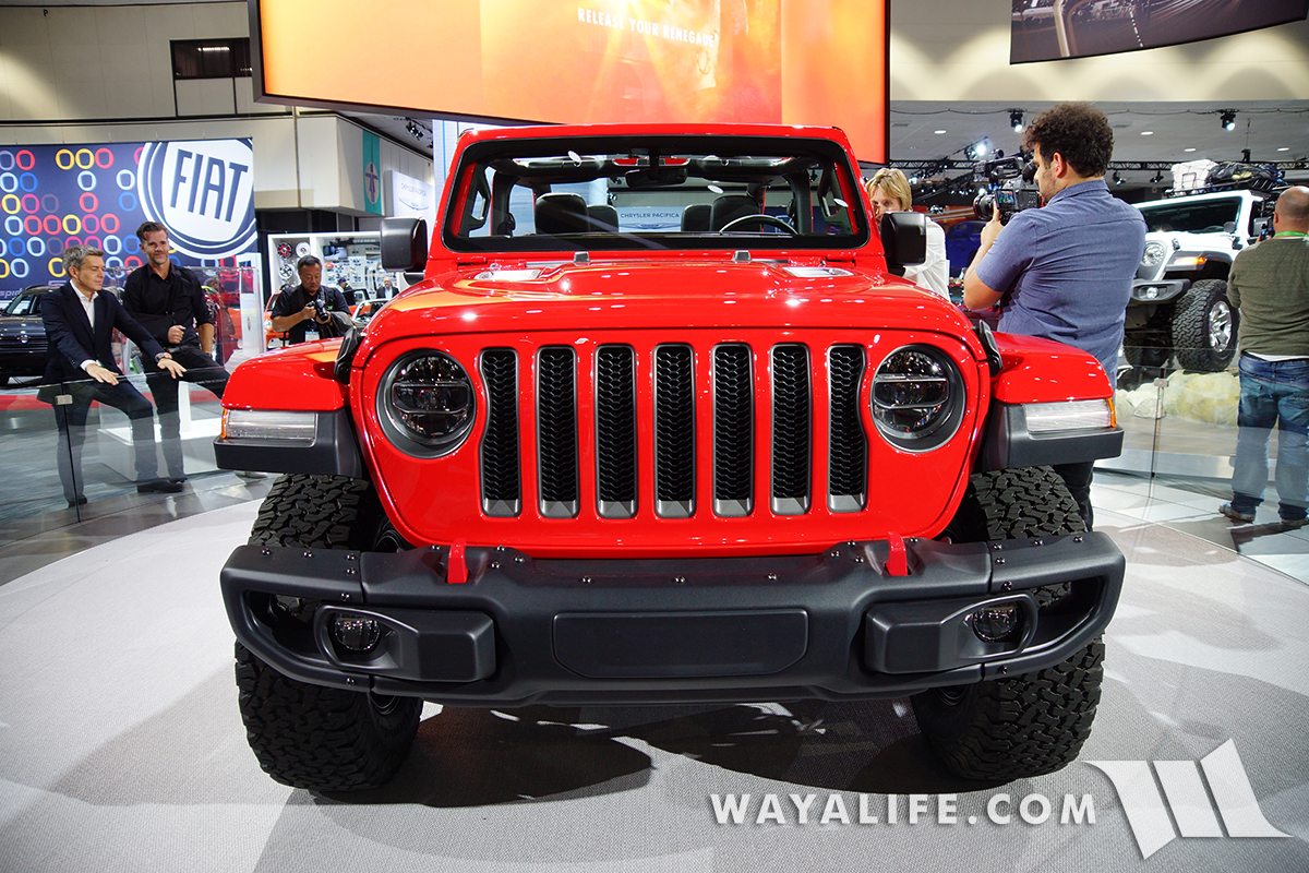 JL Wrangler Rubicon grill and front bumper