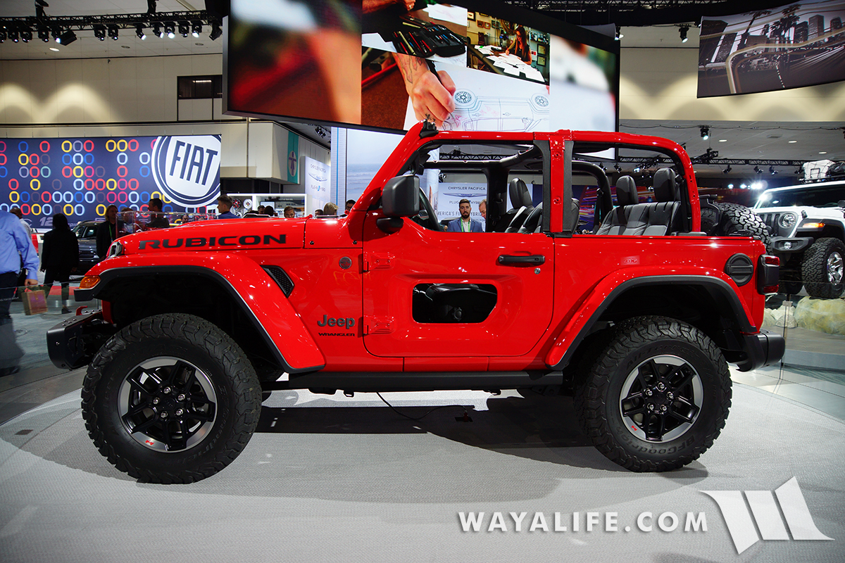 2017 la auto show jeep jl wrangler red rubicon 2 door. Black Bedroom Furniture Sets. Home Design Ideas