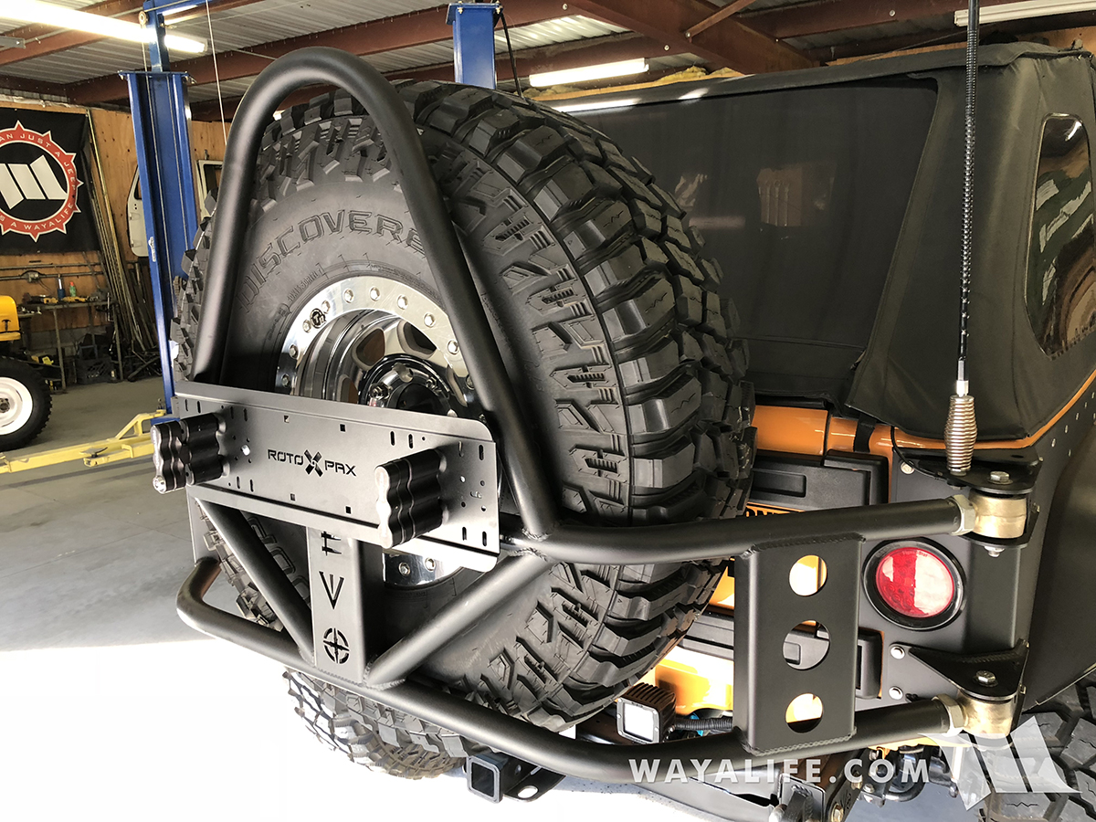 EVO Tire Carrier Rotopax Mount