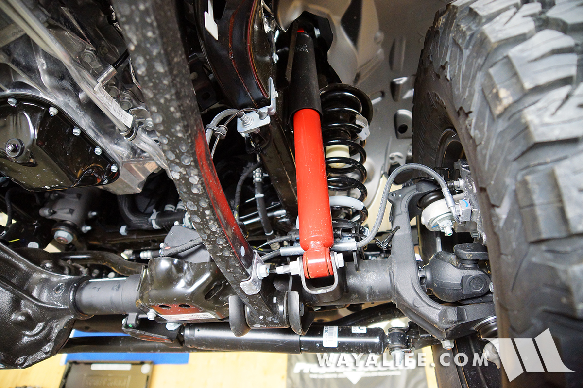 Under The Jl Wrangler Rubicon A Look At Suspension Steering Jeep Front Diagram Tj Heres Better Shot Of Shock Upper Frame Mount With Through Bolt